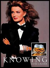 1993 Estee Lauder Knowing Perfume Vintage PRINT AD Fragrance Scent Cologne 1990s