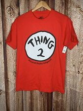 "NWT Universal Studios Dr. Seuss ""Thing 2"" Red T-shirt Men's Small Short Sleeve"