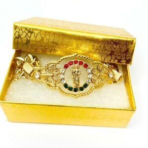 14k Gold Plated Saint Jude Thaddeus  Bracelet Pulsera San Judas Tadeo 14k Oro La