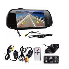 7inch LCD Screen Car Rear View Backup Mirror Monitor+Wireless Reverse Camera IR