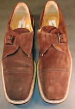 MEZLAN 'NIGUEL' BROWN SUEDE CAP TOE LOAFERS DRESS CASUAL SHOES (13)
