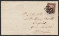 1841 SG8 1d RED BROWN PLATE 30 FINE 4 MARGIN ON COVER TO GREAT MALVERN (AI)