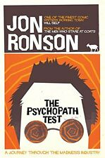 Psychopath Test: A Journey Through the Madness Industry New Paperback Book Jon R