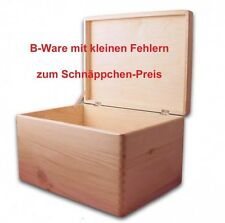 B-Ware, Aufbewahrungsbox/ Holzkiste mit Deckel ohne Grifflöcher Kiefer, Gr. 3