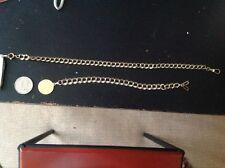Set Of 2 Vintage Pcs. 1/20 12K Gold Filled  Double Link Pocketwatch Fobs
