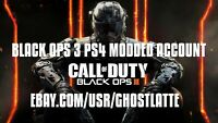 Black Ops 3 PS4 Modded Account | Lifetime Warranty