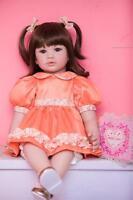 """22"""" Reborn Baby Doll Girl Toddler Handmade Lifelike Vinyl Kids Gift Dolls"""