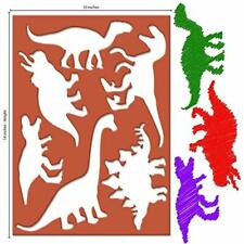 Large Dinosaur Drawing & Painting Supplies Stencils For Kids Extra-Thick 20 With