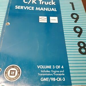 factory  gm chevy  c/k truck   1998 service manual