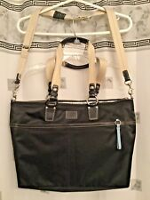 COACH BLACK NYLON  CARRY SHOUDLER TOTE DIAPER  BUSINESS TRAVEL WEEKEND BAG