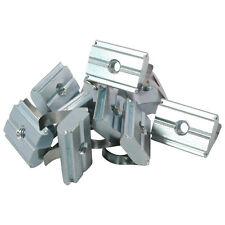 100x Nutenstein einschwenkbar Nut 10 - Typ B - mit Steg, Federblech, Stahl