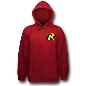 DC Comics Batman ROBIN SYMBOL Hoodie Pullover NWT 100% Authentic