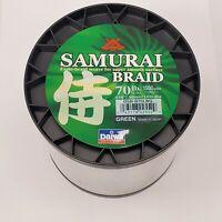 Daiwa Samurai Braided Line - Green 70lb Test, 1500 yards - DSB-B70LBG
