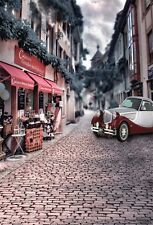 5x7ft Car Near Store Town Street Photography Backgrounds Vinyl Photo Backdrops