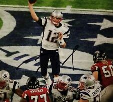 PATRIOT TOM BRADY AUTOGRAPHED PHOTO 8X10 WITH COA
