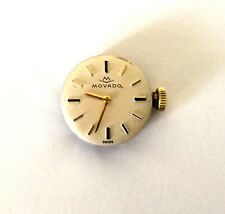VINTAGE MOVADO #58 LADIES WATCH MOVEMENT + CRYSTAL SWISS 17 JEWELS RUNS!