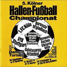 11.01.1987 HT 1. FC Köln, Galatasaray Istanbul, Alemannia Aachen, VfB Stuttgart