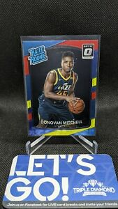 2017-18 Donruss Optic Donovan Mitchell Rated Rookie Red/Yellow #188 Jazz G751