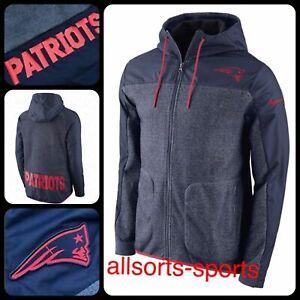 🔥 Nike NFL Patriots Winterised Hooded Jacket | Men's Size M Medium | 851866-473