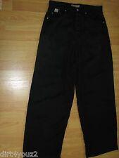 Indigo Hand Men 30 Black Pants Inseam 30 Zipper Front 100% Tencil
