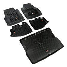 Rugged Ridge Floor Mat Liner Kit for Jeep Wrangler TJ 1997-2006  Black 12988.10