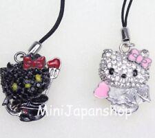 Hello kitty Angel & Devil cellphone strap charm figurine Sanrio Smiles Japan