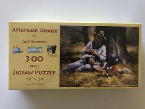 Afternoon Snooze Art by Jack Sorenson SunsOut Puzzle 300 piece SUN16826 Dog