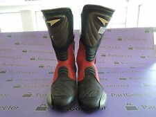 NEW AXO MOTORCYCLE MOTO RACING RACE BOOTS BLACK/WHITE/RED SIZE US 9 EUR 43