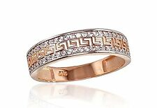 585 14ct Russian Rose Gold Delicate Greek Style Ring Size M-16.70 gift boxed