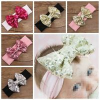 Baby Kids Girl Infant Sequin Bowknot Bow Headband Hair bow Hair band Head Wraps