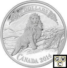 2014 Lion on the Mountain-Banknote Proof $5 Silver Coin 9999 Fine *No Tax(13974)