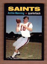 Archie Manning '71 New Orleans Saints rookie season MC Glory Days #12