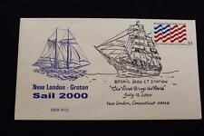 DRW NAVAL COVER #323 FREEDOM SCHOONER AMISTAD OPSAIL 2000 NEW LONDON FANCY CANC