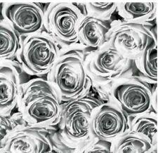 Klebefolie - Möbelfolie Rosen grau weiss - 45 cm x 200 cm Selbstklebefolie