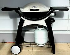 Weber Q200 Medium Size BBQ Including Cart and Breakfast Plate Good Working Order