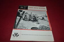 Massey Ferguson No. 1 Post Hole Digger Dealer's Brochure DCPA6