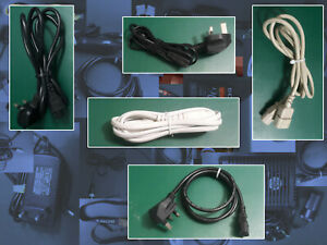 lead Clover Figure 8 Fig 3pin 2pin UK EU Power Mains Cable Kettle C7 IEC C13