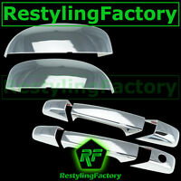 07-13 Chevy Silverado Chrome Triple plated Mirror+2 Door Handle W/O PSG KH Cover
