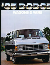1985 Dodge Ram Van Wagon 8-page Original Dealer Sales Brochure Catalog