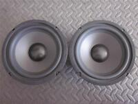 """NEW (2) 6.5"""" Woofer Replacement Speakers.Home Audio.6-1/2"""".8ohm.six half inch."""