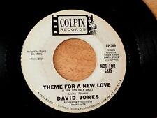 DAVID JONES~THEME FOR A NEW LOVE~RARE PROMO~COLPIX~VG++~ TEEN 45