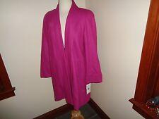 NWT Harve Benard Pink Wool Swing Jacket Coat Size 6 $160