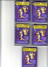 1979 Topps Vintage Star Trek The Motion Picture Five Packs Lot 10 Cards + Gum