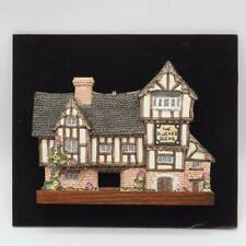 David Winter Cottages The Plucked Ducks in Wood Shadow Box Frame