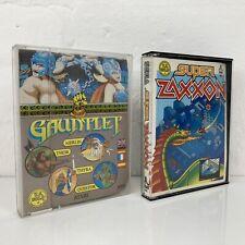 2 Atari 48k Cassette Games Gauntlet Super Zaxxon U.S. Gold Retro Vintage Arcade