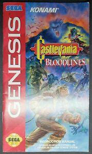 """GENESIS MANUAL ONLY  :     TITLE   """" CASTLEVANIA BLOODLINES  """""""