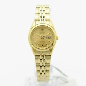 Seiko 5 SYMA38K1 Automatic Gold Tone Stainless Steel Analog Ladies's Watch