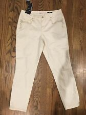 Style&Co Denim size 10 Ankle Pants Curvy Fit Mid Rise Pearl