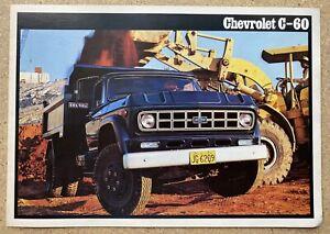 1980 Chevrolet C-60 original Brazilian sales brochure