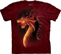 The Mountain Red Dragon Fantasy Mythical Fairy Tale Adult T Tee Shirt 106062
